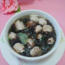 【原创首发】青瓜紫菜肉丸汤的做法
