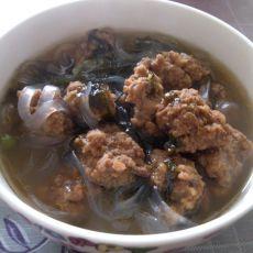 紫菜炖丸子的做法