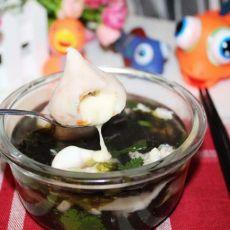 芝士丸紫菜汤