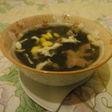 紫菜玉米蛋花汤