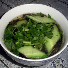 黄瓜片紫菜汤的做法