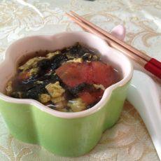 西红柿紫菜蛋汤