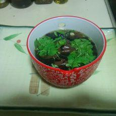 酸辣猪红紫菜汤