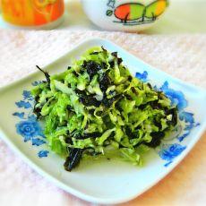 紫菜拌白菜叶的做法