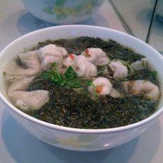 鱼饺鱼卷紫菜汤