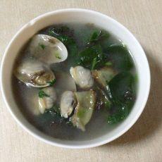 蛤蜊紫菜菠菜汤