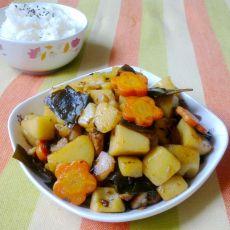 土豆海带炖猪肉的做法