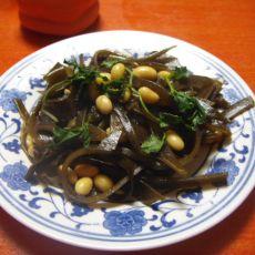 海带黄豆的做法