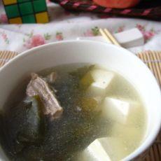 骨汤海带豆腐的做法