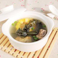 海带结玉米排骨汤