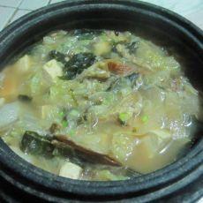 白菜豆腐酱汤