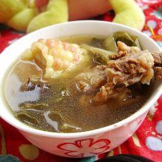 白菜干海带猪骨汤的做法