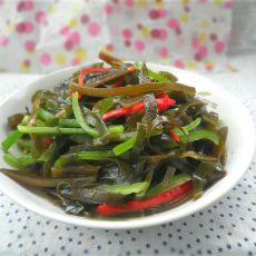 青红椒炒海带丝
