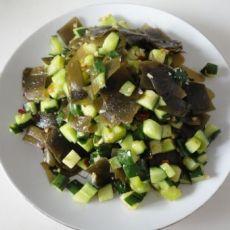 海带炒黄瓜的做法