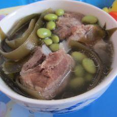 鲜黄豆大骨汤