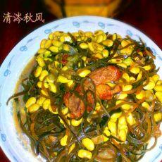 红烧肉海带炖黄豆