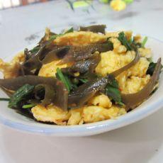海带丝炒蛋的做法