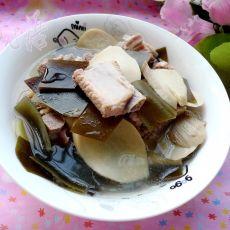 杏鲍菇海带排骨汤