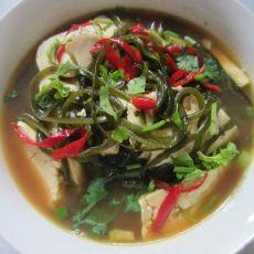 海带酱豆腐汤的做法
