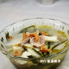海米肉片什锦汤