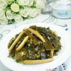 咸菜香干炒海带