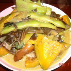 肉炖豆角窝瓜海带