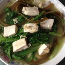 海米豆腐烧海带的做法