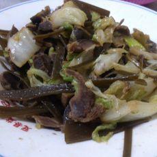 白菜海带炒鸡胗