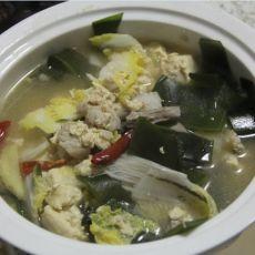 冻豆腐海带白菜汤