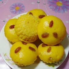 葡萄干南瓜蒸糕