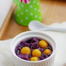 麦香紫薯金瓜圆--送给妈妈