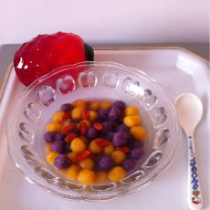 紫薯南瓜小汤丸