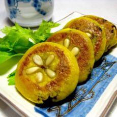 松仁南瓜豆沙饼