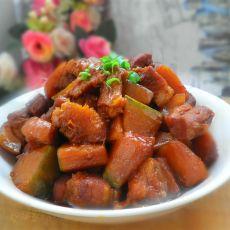 南瓜烧肉的做法