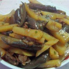 茄子土豆条的做法