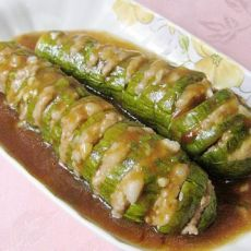 肉糜嵌茄子的做法