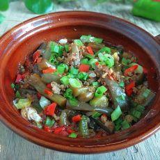 肉末茄子砂锅煲