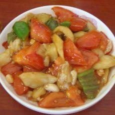 茄子炒西红柿