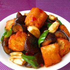 豆瓣茄子炒油条的做法