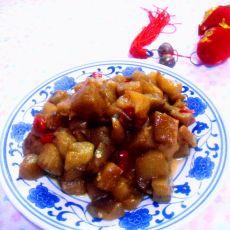 红辣椒炒茄子