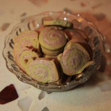 紫薯抹茶双色饼干