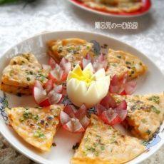 葱香牛奶红薯饼的做法