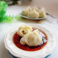 白菜香干素蒸饺