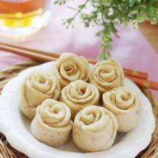 素雅风迷你豆渣玫瑰卷的做法
