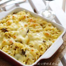 奶酪焗咖喱意面的做法