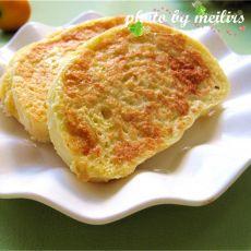蛋煎黄金馒头片