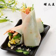 凉皮蔬菜卷的做法