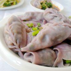 紫薯韭菜饺子的做法