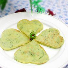 玉米面黄瓜丝饼