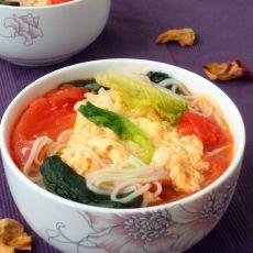 小白菜番茄挂面汤的做法